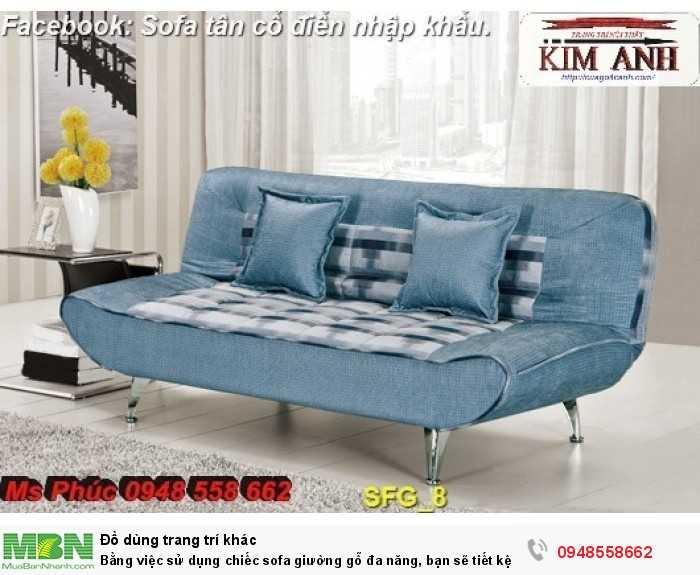 Bằng việc sử dụng chiếc sofa giường gỗ đa năng, bạn sẽ tiết kệm được tiền mua 2 bộ nội thất15