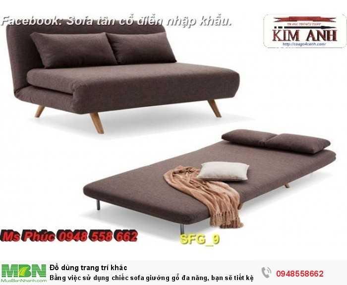 Bằng việc sử dụng chiếc sofa giường gỗ đa năng, bạn sẽ tiết kệm được tiền mua 2 bộ nội thất16