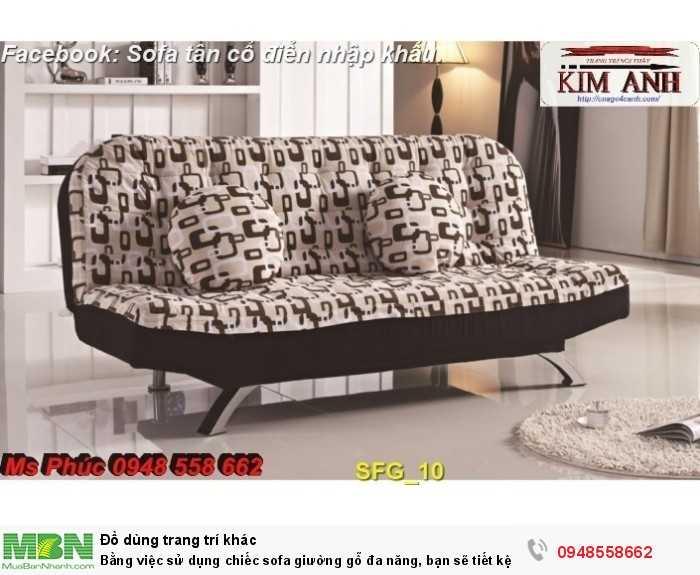 Bằng việc sử dụng chiếc sofa giường gỗ đa năng, bạn sẽ tiết kệm được tiền mua 2 bộ nội thất17
