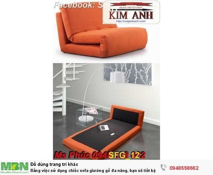Bằng việc sử dụng chiếc sofa giường gỗ đa năng, bạn sẽ tiết kệm được tiền mua 2 bộ nội thất19
