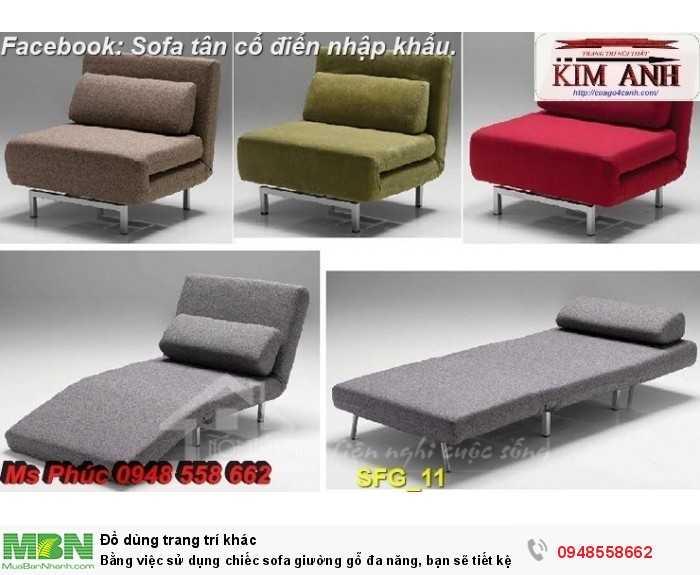 Bằng việc sử dụng chiếc sofa giường gỗ đa năng, bạn sẽ tiết kệm được tiền mua 2 bộ nội thất18
