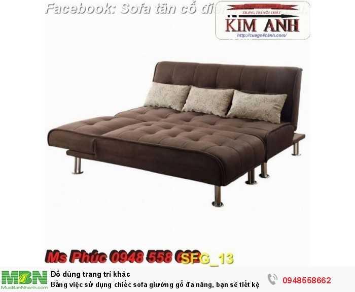 Bằng việc sử dụng chiếc sofa giường gỗ đa năng, bạn sẽ tiết kệm được tiền mua 2 bộ nội thất20