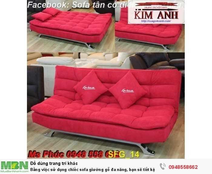 Bằng việc sử dụng chiếc sofa giường gỗ đa năng, bạn sẽ tiết kệm được tiền mua 2 bộ nội thất21