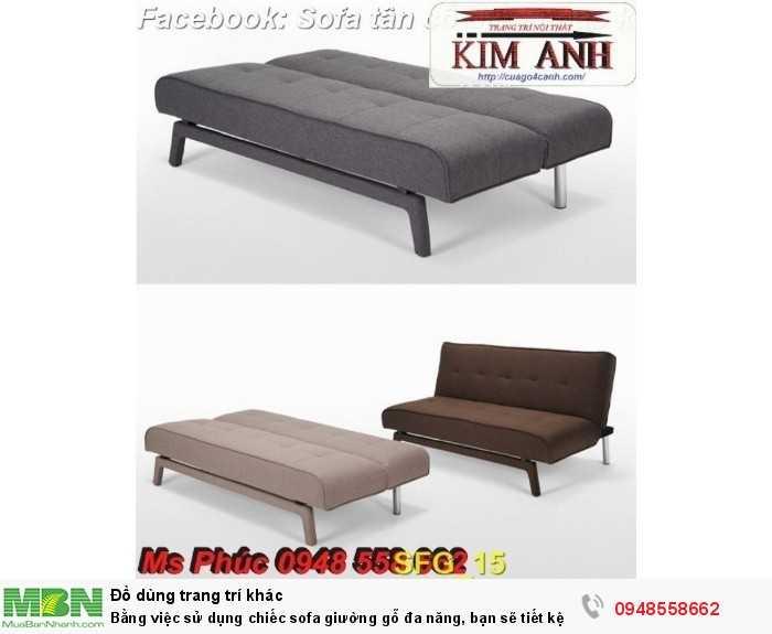 Bằng việc sử dụng chiếc sofa giường gỗ đa năng, bạn sẽ tiết kệm được tiền mua 2 bộ nội thất22
