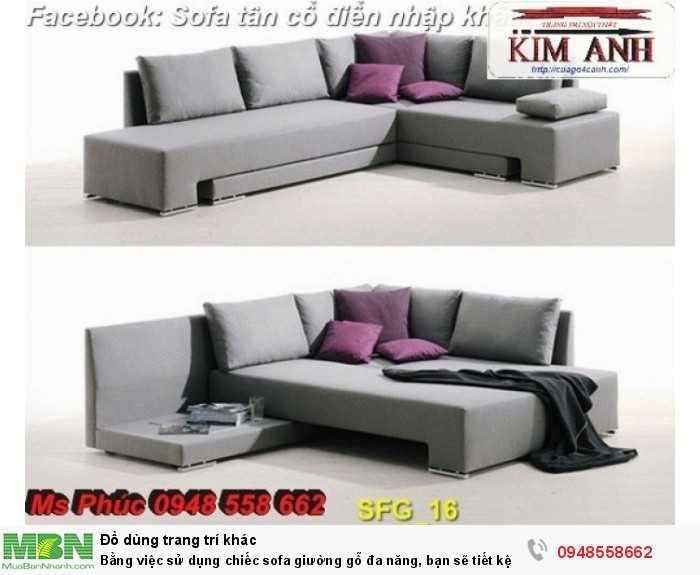 Bằng việc sử dụng chiếc sofa giường gỗ đa năng, bạn sẽ tiết kệm được tiền mua 2 bộ nội thất23