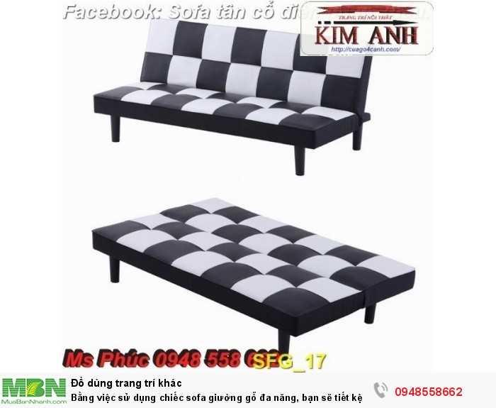 Bằng việc sử dụng chiếc sofa giường gỗ đa năng, bạn sẽ tiết kệm được tiền mua 2 bộ nội thất24