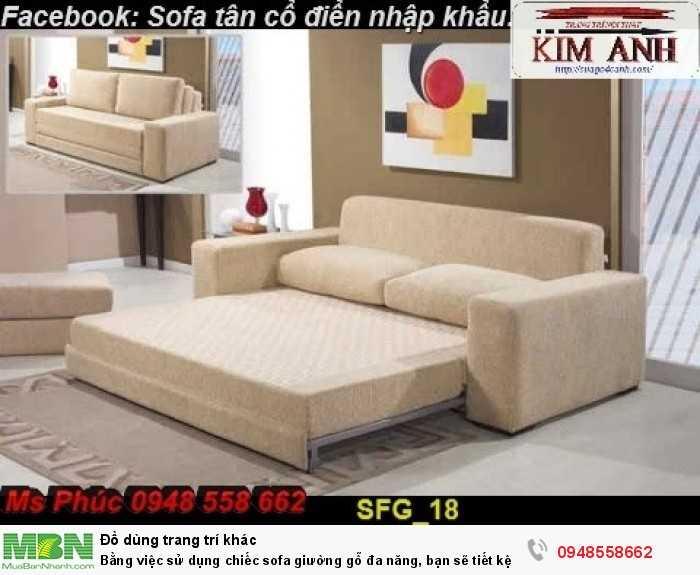 Bằng việc sử dụng chiếc sofa giường gỗ đa năng, bạn sẽ tiết kệm được tiền mua 2 bộ nội thất25