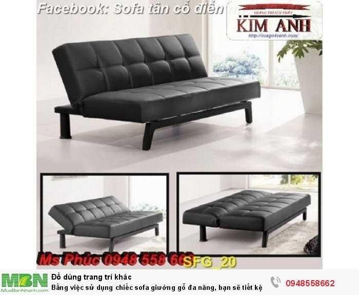 Bằng việc sử dụng chiếc sofa giường gỗ đa năng, bạn sẽ tiết kệm được tiền mua 2 bộ nội thất26