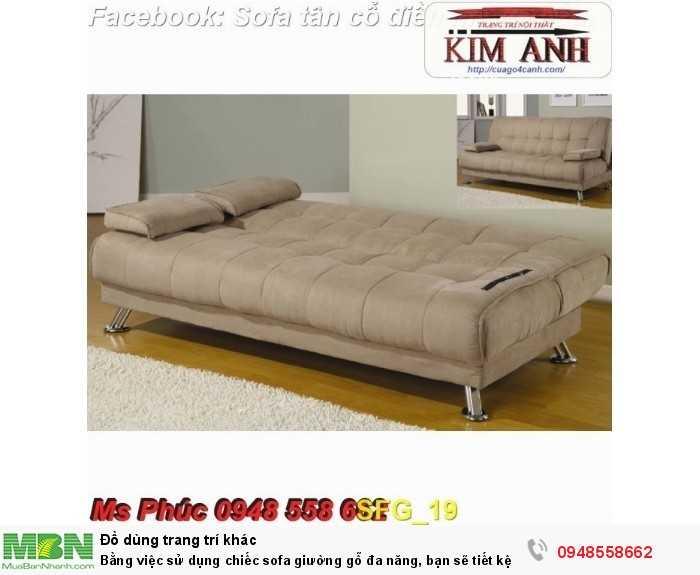 Bằng việc sử dụng chiếc sofa giường gỗ đa năng, bạn sẽ tiết kệm được tiền mua 2 bộ nội thất27