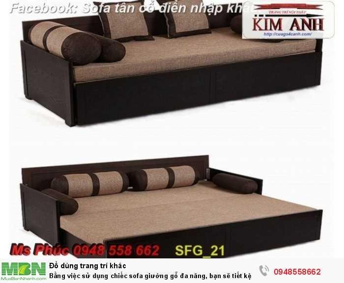 Bằng việc sử dụng chiếc sofa giường gỗ đa năng, bạn sẽ tiết kệm được tiền mua 2 bộ nội thất28