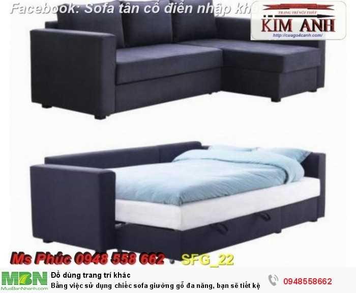 Bằng việc sử dụng chiếc sofa giường gỗ đa năng, bạn sẽ tiết kệm được tiền mua 2 bộ nội thất29