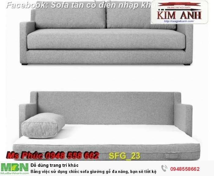 Bằng việc sử dụng chiếc sofa giường gỗ đa năng, bạn sẽ tiết kệm được tiền mua 2 bộ nội thất30