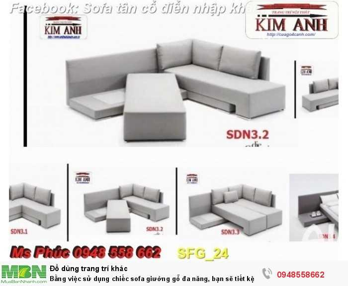 Bằng việc sử dụng chiếc sofa giường gỗ đa năng, bạn sẽ tiết kệm được tiền mua 2 bộ nội thất31