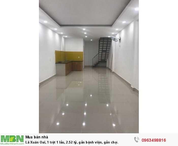 Lã Xuân Oai, 1 trệt 1 lầu, 2.52 tỷ, gần bệnh viện, gần chợ.