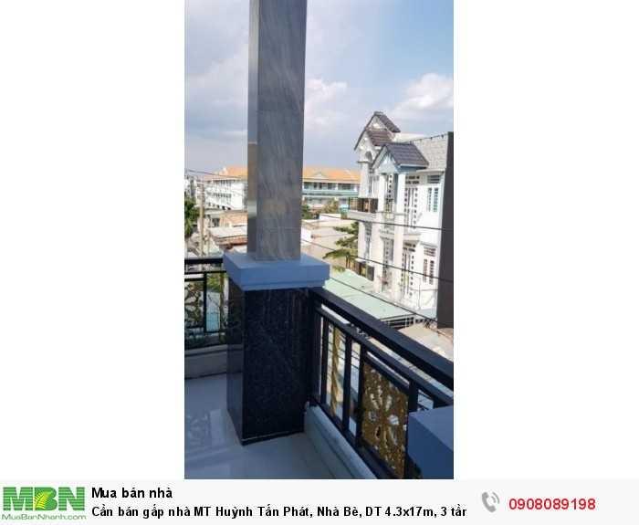 Cần bán gấp nhà MT Huỳnh Tấn Phát, Nhà Bè, DT 4.3x17m, 3 tầng, giá 4.15 tỷ