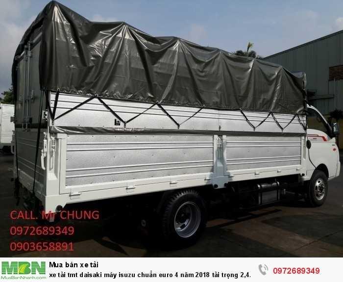 xe tải tmt daisaki máy isuzu chuẩn euro 4 năm 2018 tải trọng 2,4 tấn thùng 4,2 m