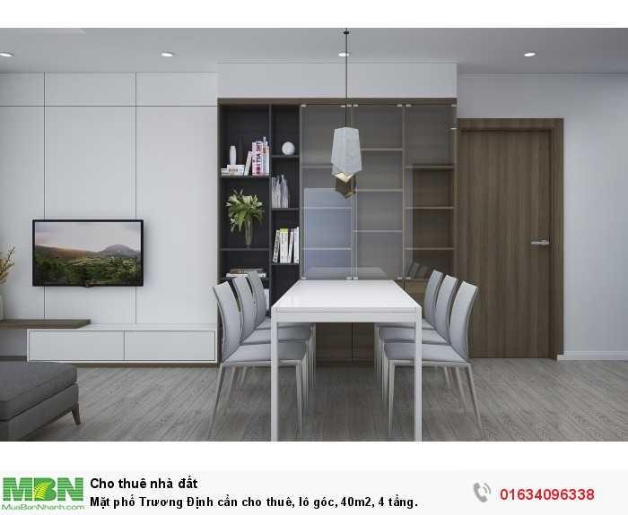 Mặt phố Trương Định cần cho thuê, lô góc, 40m2, 4 tầng.