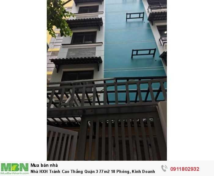Nhà HXH Tránh Cao Thắng Quận 3 77m2 18 Phòng, Kinh Doanh Giá 11,8 Tỷ.
