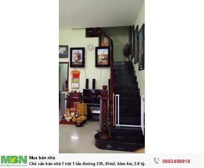 Chủ cần bán nhà 1 trệt 1 lầu đường 339, 45m2, hẻm 4m, 2.8 tỷ.