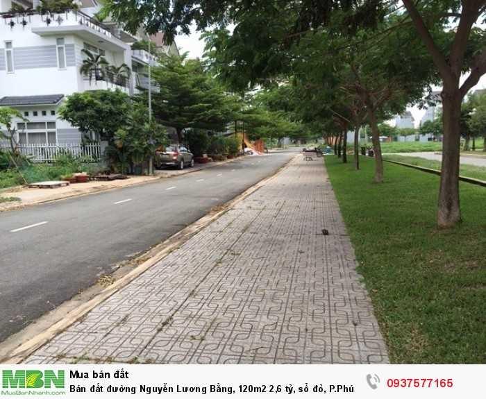 Bán đất đường Nguyễn Lương Bằng, 120m2 sổ đỏ, P.Phú Mỹ, Quận 7.