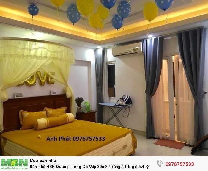 Bán nhà HXH Quang Trung Gò Vấp 80m2 4 tầng 4 PN
