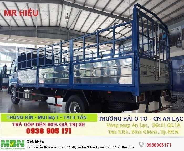 Bán xe tải Thaco Auman C160, xe tải 9 tấn3 , Auman C160 thùng dài 7m4 , trả góp giá rẻ