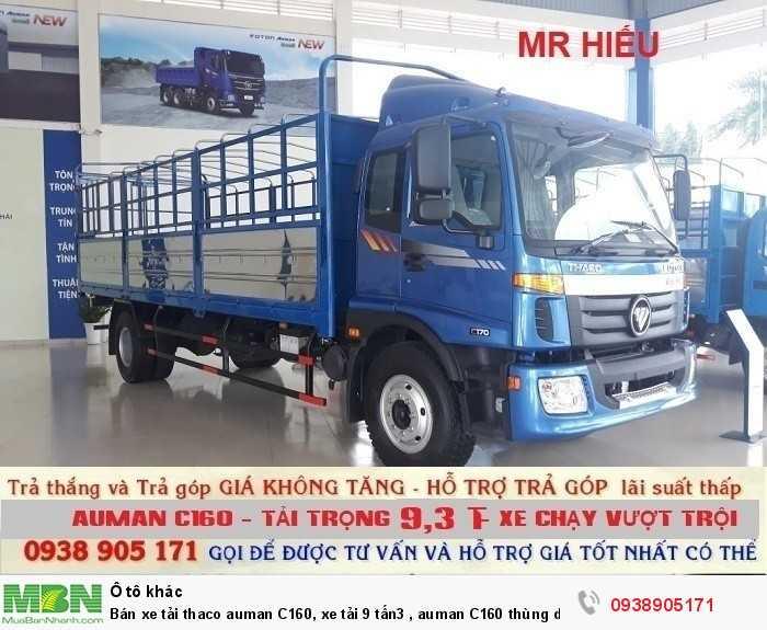 Bán xe tải Thaco Auman C160, xe tải 9 tấn3 , Auman C160 thùng dài 7m4 , trả góp giá rẻ 2