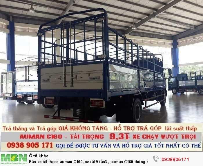 Bán xe tải Thaco Auman C160, xe tải 9 tấn3 , Auman C160 thùng dài 7m4 , trả góp giá rẻ 3