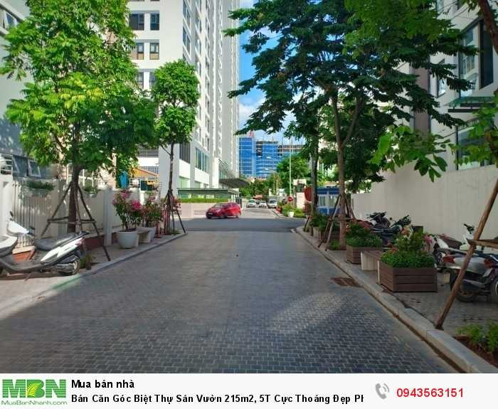 Bán Căn Góc Biệt Thự Sân Vườn 215m2, 5T Cực Thoáng Đẹp Phố Ngụy Như Kon Tum