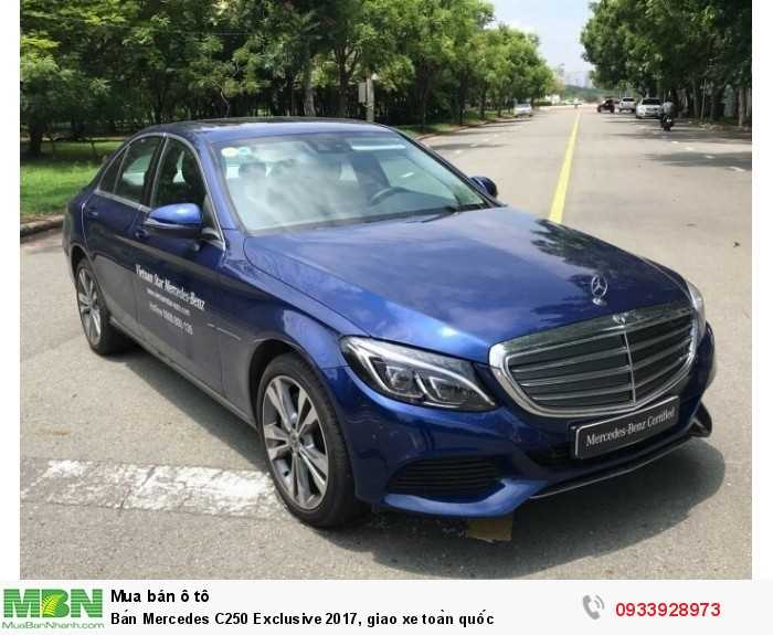 Bán Mercedes C250 Exclusive 2017, giao xe toàn quốc