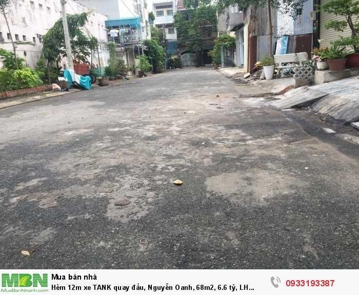 Hẻm 12m xe TANK quay đầu, Nguyễn Thái Sơn, 68m2
