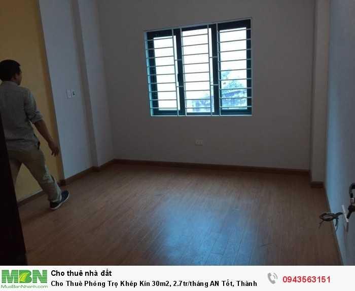 Cho Thuê Phòng Trọ Khép Kín 30m2, 2.7tr/tháng AN Tốt, Thành Công, Ba Đình