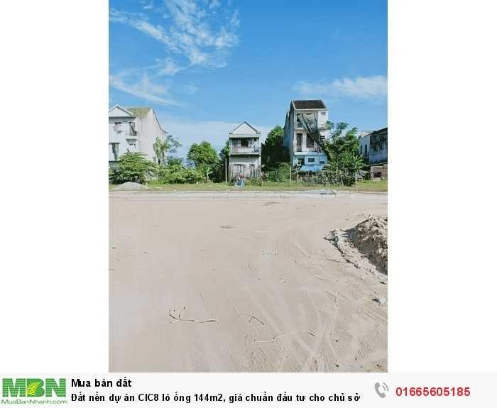 Đất nền dự án CIC8 lô ống 144m2, giá chuẩn đầu tư cho chủ sở hữu.