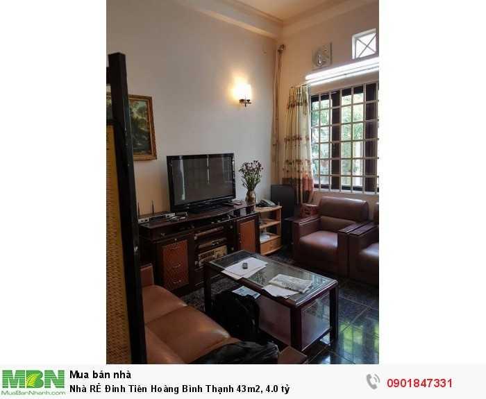 Nhà Rẻ Đinh Tiên Hoàng Bình Thạnh 43M2