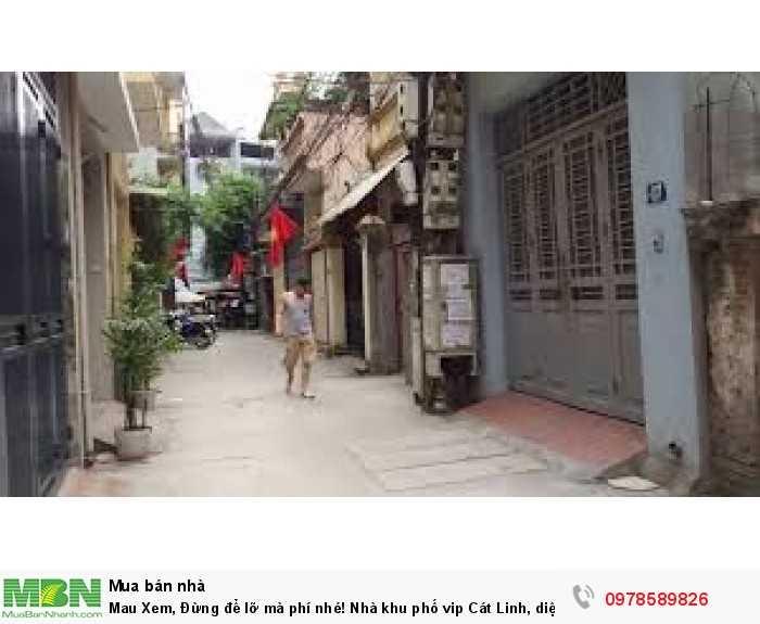 Mau Xem, Đừng để lỡ mà phí nhé! Nhà khu phố vip Cát Linh, diện tích 47m2, 4 tầng, mặt tiền 3.5m