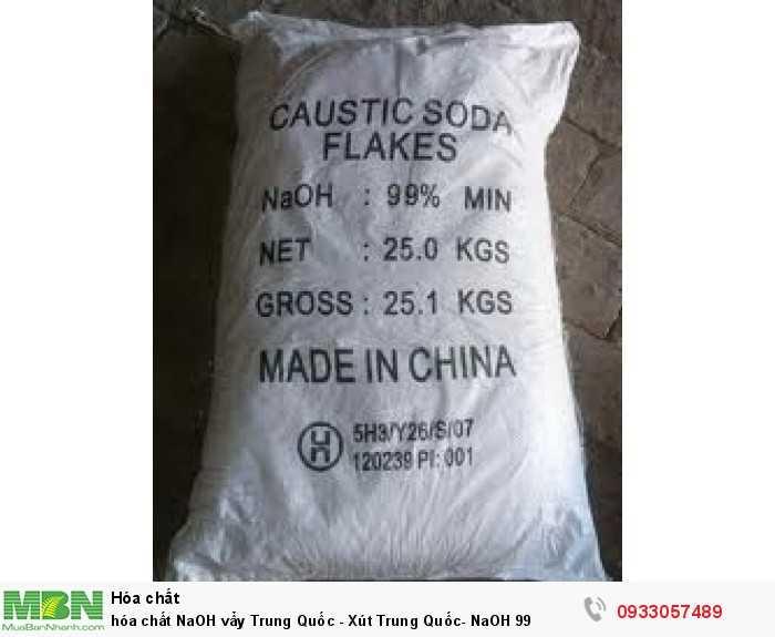 Hóa chất NaOH vẩy Trung Quốc - Xút Trung Quốc- NaOH 990