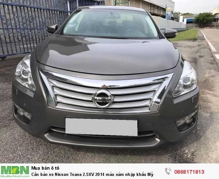 Cần bán xe Nissan Teana 2.5XV 2014 màu xám nhập khẩu Mỹ