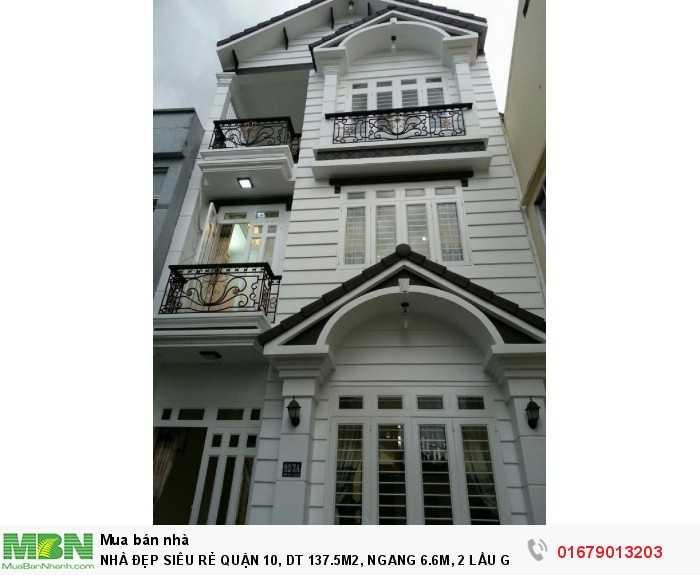Nhà Đẹp Siêu Rẻ Quận 10, Dt 137.5m2, Ngang 6.6m, 2 Lầu