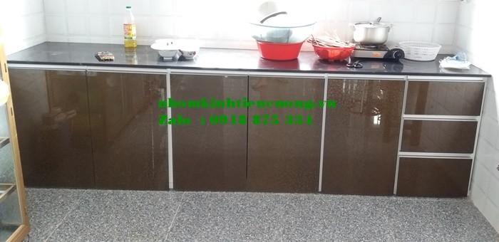 Tủ Bếp Nhôm Kính Sơn Tĩnh Điện Treo Tường Cao Cấp Đẹp Giá Rẻ Tphcm1