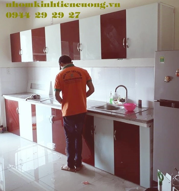 Tủ Bếp Nhôm Kính Sơn Tĩnh Điện Treo Tường Cao Cấp Đẹp Giá Rẻ Tphcm6