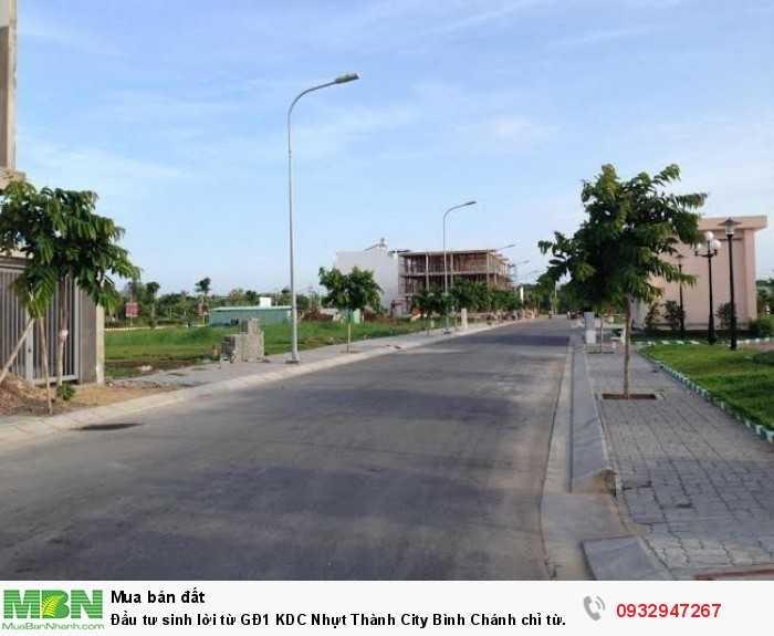 Đầu tư sinh lời từ GĐ1 KDC Nhựt Thành City  Bình Chánh chỉ từ 890tr/nền