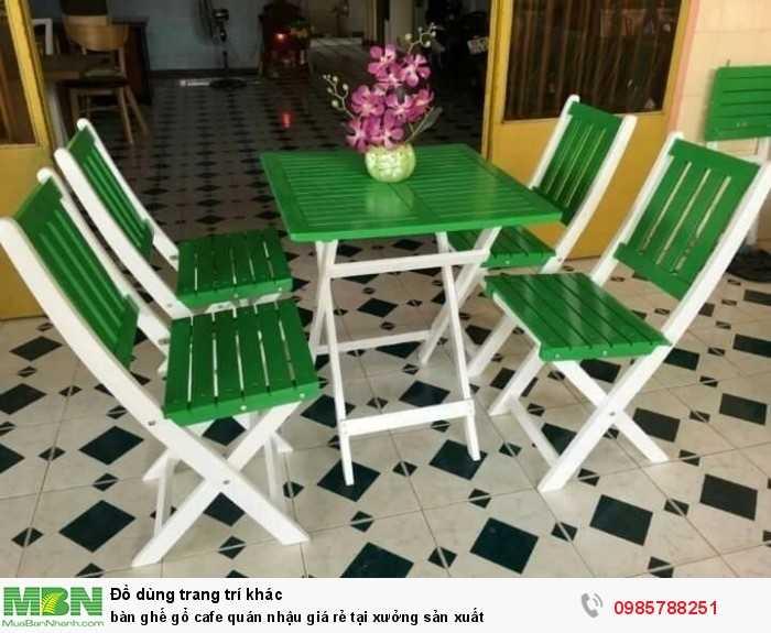Bàn ghế gỗ cafe quán nhậu giá rẻ tại xưởng sản xuất1
