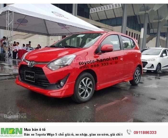 Bán xe Toyota Wigo 5 chỗ giá rẻ, xe nhập, giao xe sớm