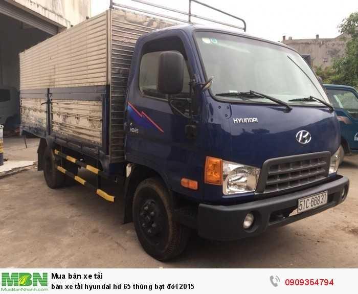 Bán xe tải Hyundai HD 65 thùng bạt đời 2015
