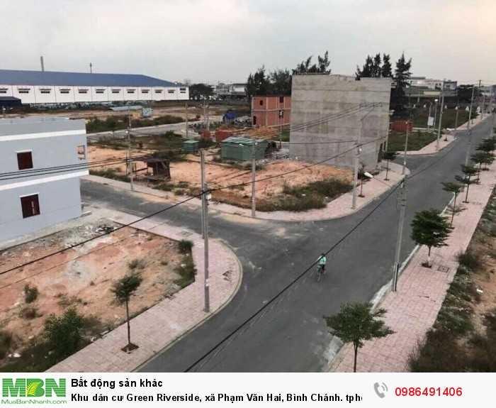 Khu dân cư Green Riverside, xã Phạm Văn Hai, Bình Chánh. tphcm