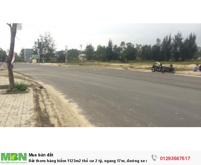 Đất thơm hàng hiếm 1123m2 thổ cư, ngang 17m,  đường xe siêu bự, Giáp Hải, Hóc Môn.