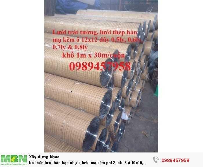 Lưới hàng rào b40 bọc nhựa, lưới thép bọc nhựa ô 10x10, 20x20, 30x30, 50x508