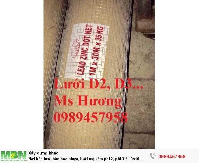 Lưới hàng rào b40 bọc nhựa, lưới thép bọc nhựa ô 10x10, 20x20, 30x30, 50x509