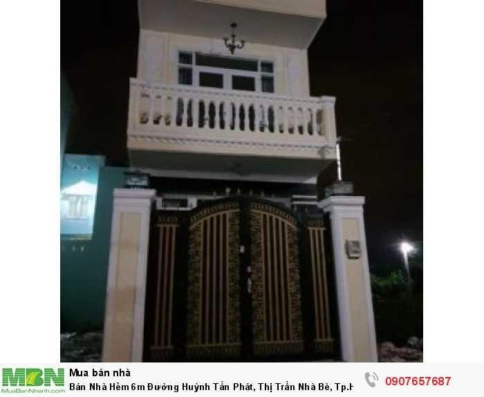 Bán Nhà Hẻm 6m Đường Huỳnh Tấn Phát, Thị Trấn Nhà Bè, Tp.HCM diện tích 56m2
