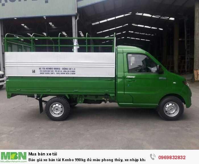 Xe bán tải kenbo 990kg  Chiến Thắng  có thùng dài 2m7 thuận tiện để vận chuyển các mặc hàng nhỏ lẻ trong các con đường chật hẹp.
